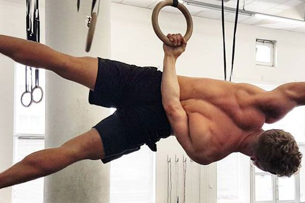Calisthenics exercise Back Lever